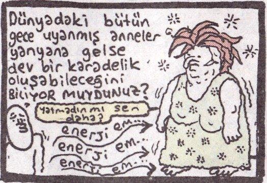 gece uyanmış anne karikatürü umut sarıkaya